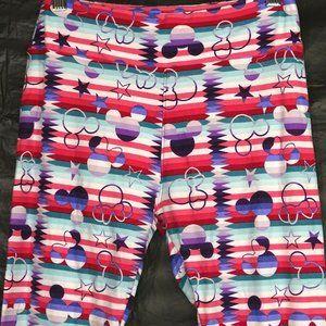 LulaRoe Legging Pants Mickey Minnie Mouse Girls